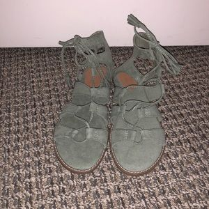 Army Green Gladiator Sandals Size 7